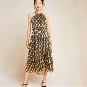 Anthro Sunday Brooklyn Confetti Halter Midi Dress